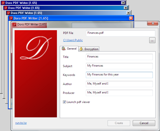 doro create pdf files for free the sz