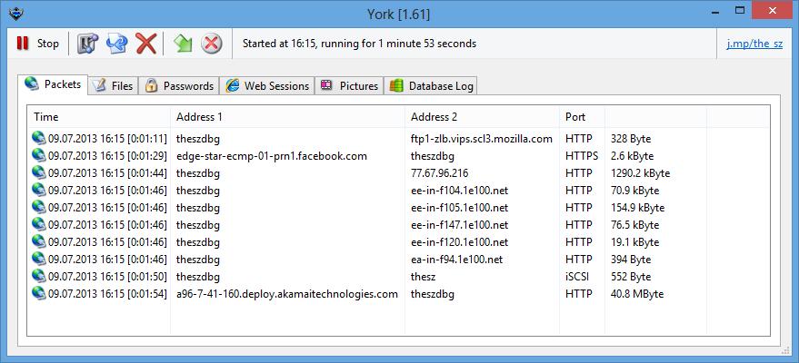 York Network Trace full screenshot
