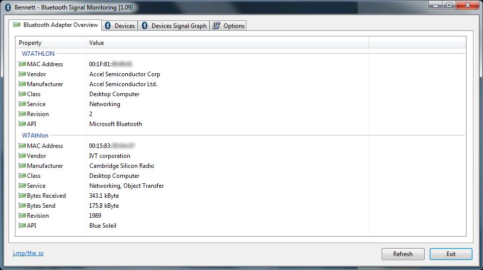 Bennett::Bluetooth Monitor - the sz development