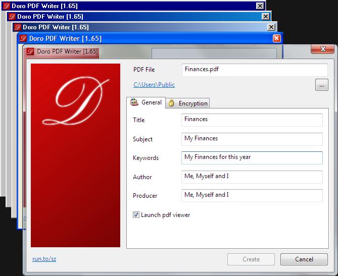 Doro::Create PDF files for free - the sz development