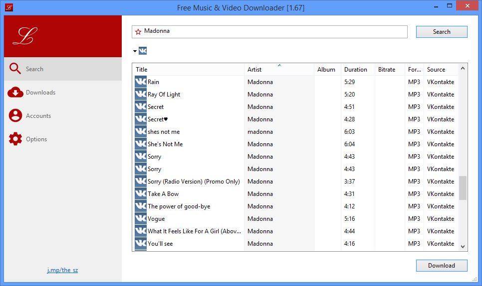 Free Music & Video Downloader::Download mp3 files for free