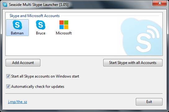 Seaside Multi Skype Launcher 1.34 full